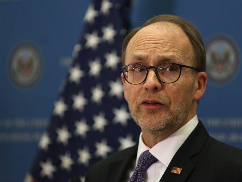 Then-U.S. Ambassador to Iraq Douglas Silliman