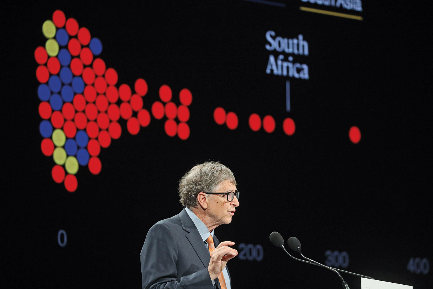 Microsoft co-founder Bill Gates speaks at the conference for the Global Fund to Fight AIDS, Tuberculosis and Malaria in Lyon, France, on Oct. 10, 2019.