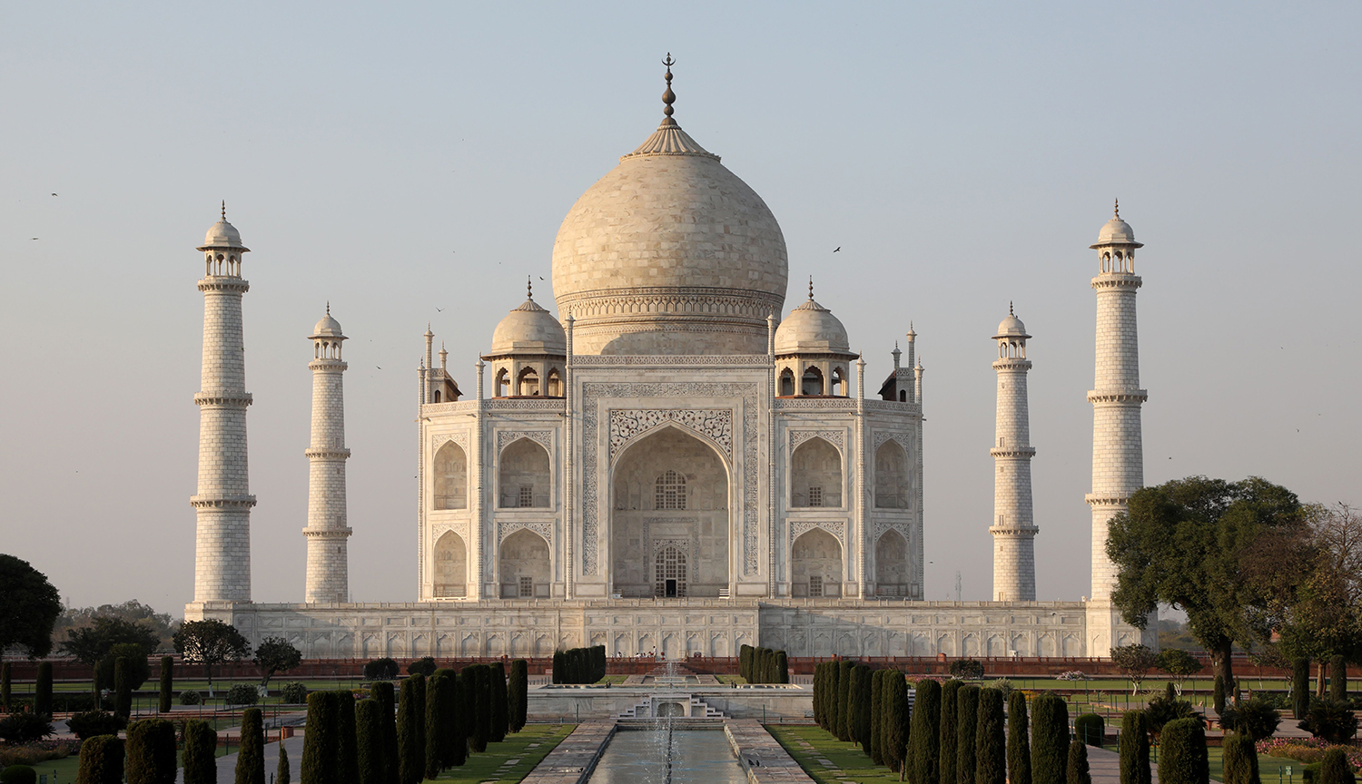 The Taj Mahal mausoleum is pictured in Agra, India, on March 11, 2018.