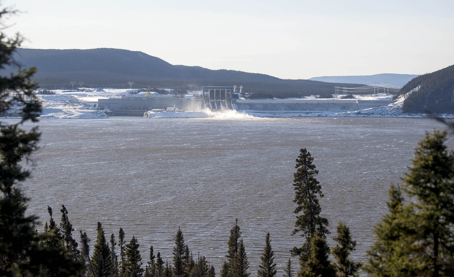 The Muskrat Falls Generating Facility on the Churchill River near Happy Valley-Goose Bay on Nov. 17, 2019.