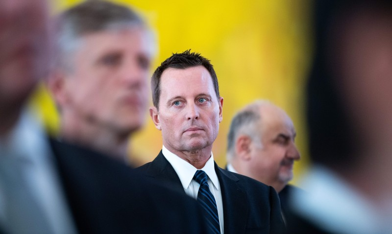 US ambassador to Germany Richard Grenell attends a new year's reception of the German President on January 14, 2019 in Berlin.