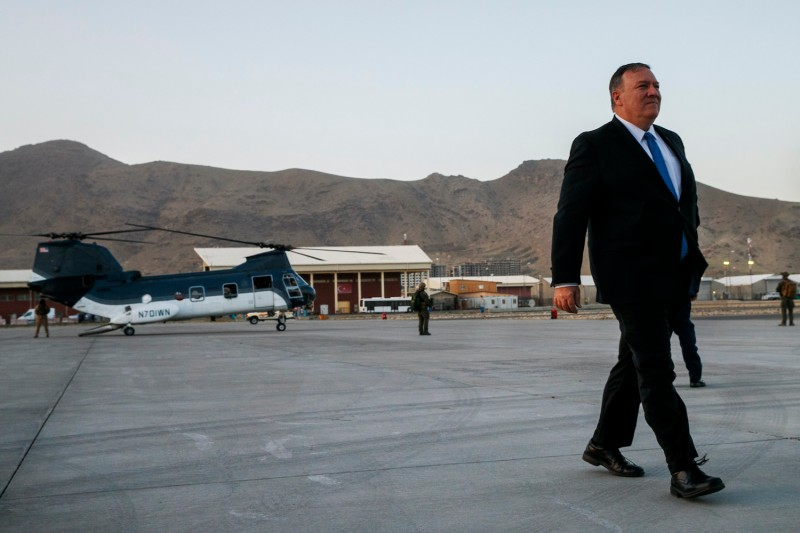 U.S. Secretary of State Mike Pompeo in Afghanistan