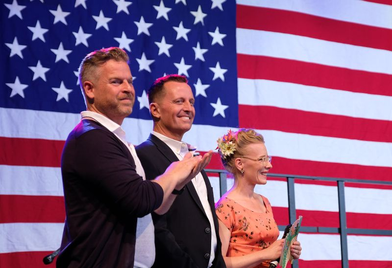 Richard Grenell and his husband Ben Lashley attend the 4th of July party hosted by the U.S. Embassy at former Tempelhof Airport on July 04, 2019 in Berlin, Germany.