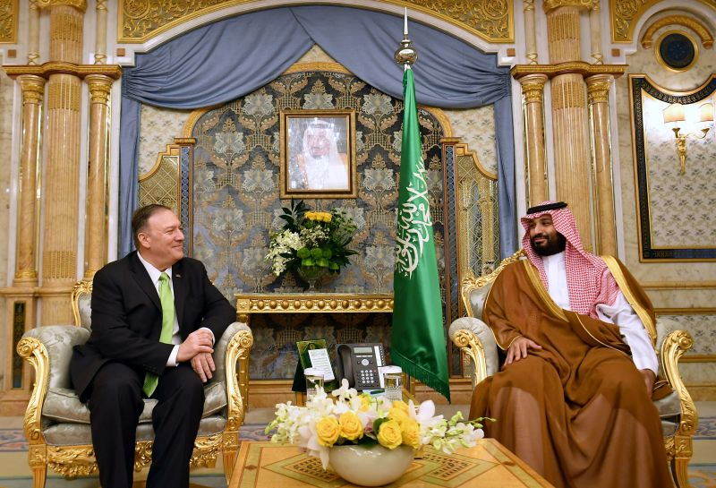 U.S. Secretary of State Mike Pompeo and Saudi Arabia's Crown Prince Mohammed bin Salman