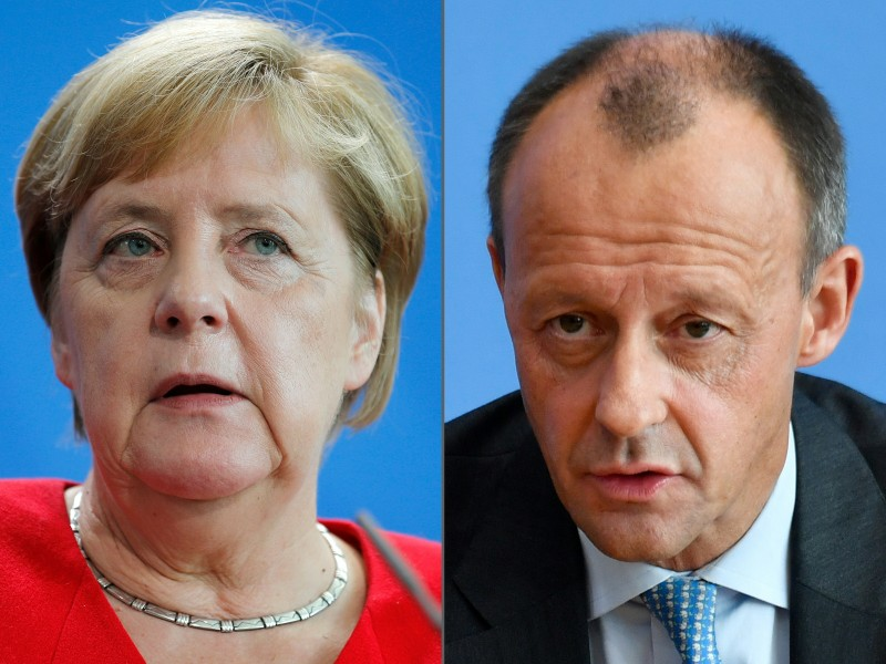 Angela Merkel and Friedrich Merz
