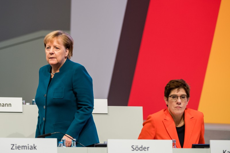 Angela Merkel and Annegret Kramp-Karrenbauer