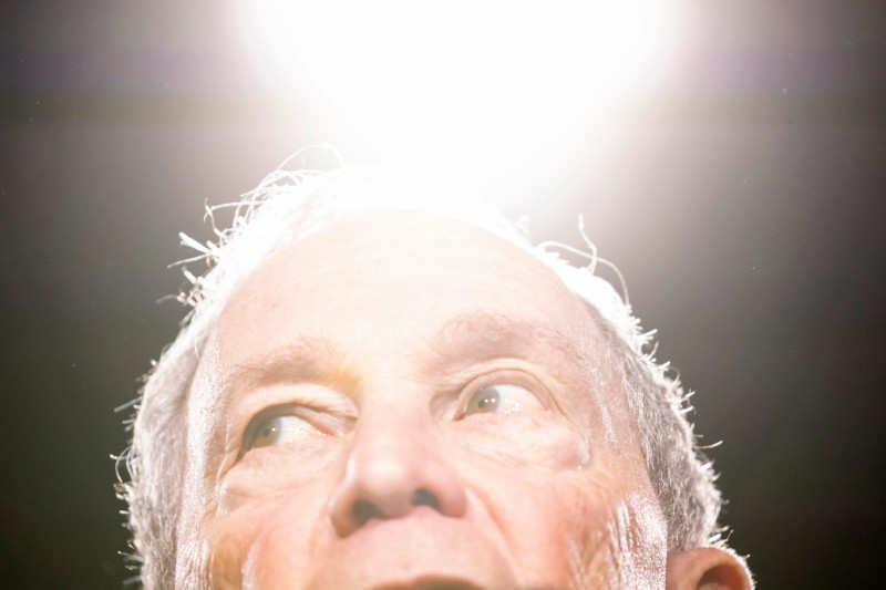 Democratic presidential candidate and former New York City Mayor Michael Bloomberg delivers remarks during a campaign rally in Nashville, Tennessee, on Feb. 12.