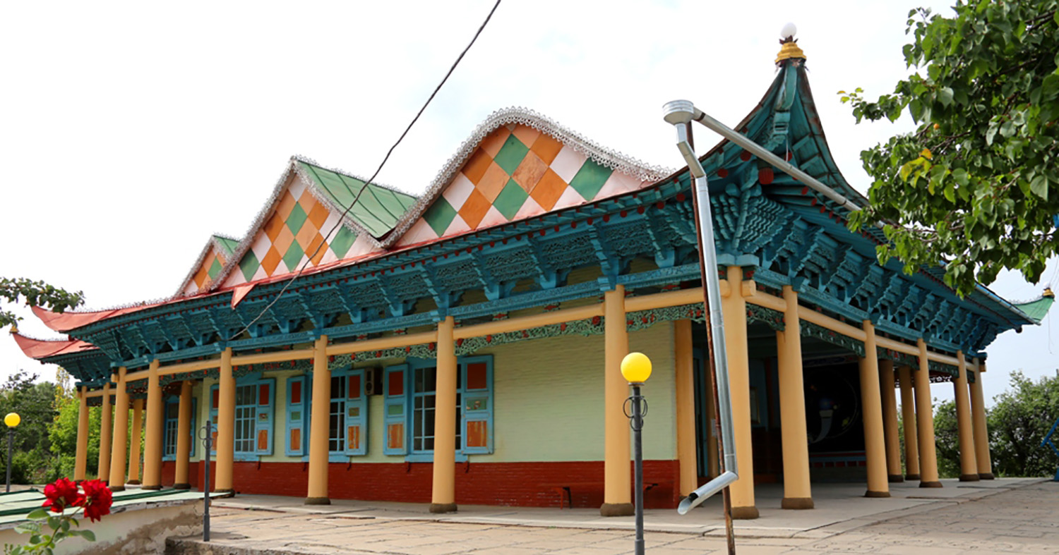 A Hui mosque, erected at the start of the 20th century, stands in Karakol, Kyrgyzstan.