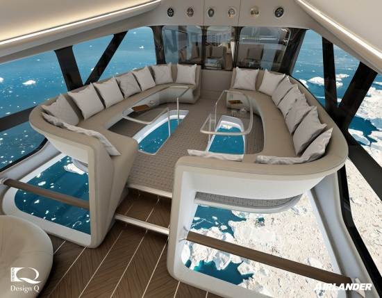 The interior of the Ocean Sky airship.