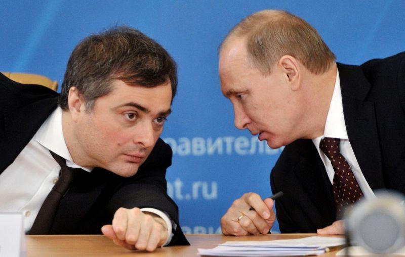 Vladislav Surkov and Vladimir Putin