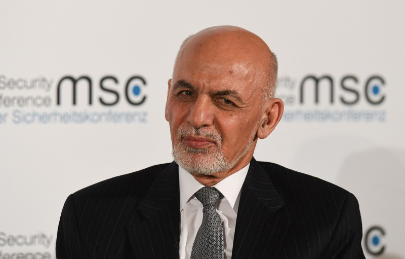 Afghan President Ashraf Ghani takes part in a panel discussion during the Munich Security Conference in Munich, Germany, on Feb. 15.