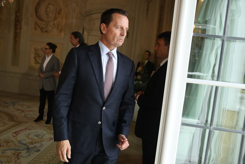 U.S. Ambassador Richard Grenell attends a reception hosted by German Chancellor Angela Merkel at Schloss Meseberg palace on July 6, 2018 near Gransee, Germany.