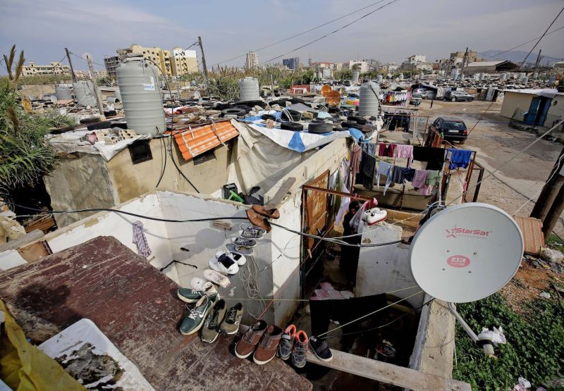 A view of a slum area in Lebanon's northern port city of Tripoli.
