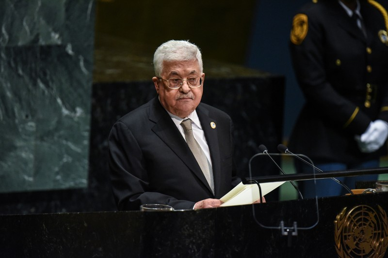 Palestinian Authority President Mahmoud Abbas speaks during the 74th United Nations General Assembly at the United Nations on Sept. 26, 2019.