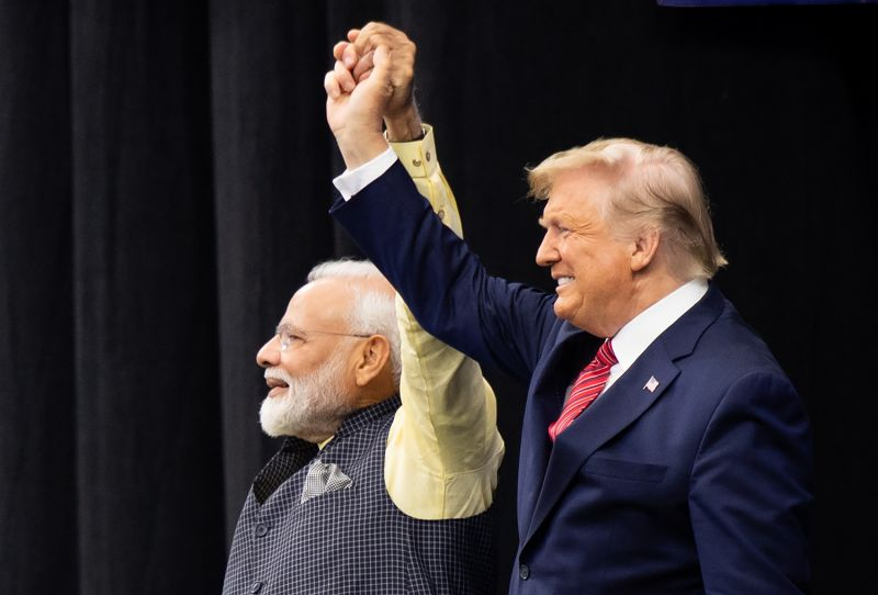 "U.S. President Donald Trump and Indian Prime Minister Narendra Modi attend the ""Howdy, Modi!"" in Houston, Texas, on Sept. 22, 2019."