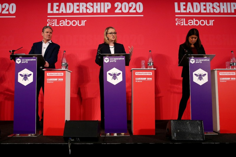 Keir Starmer, Rebecca Long-Bailey, and Lisa Nandy