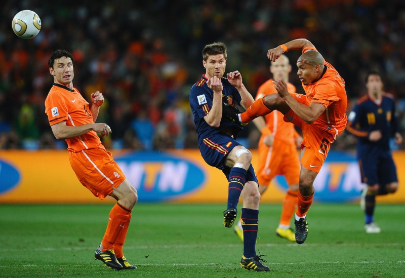 North vs. South: The Netherlands competes against Spain in the 2010 FIFA World Cup Final in Johannesburg on July 11, 2010. The Netherlands, like Germany, is resisting Southern Europe's calls for fiscal solidarity as the coronavirus causes economic chaos across the continent.