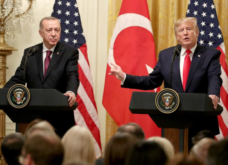 Turkish President Recep Tayyip Erdogan and U.S. President Donald Trump