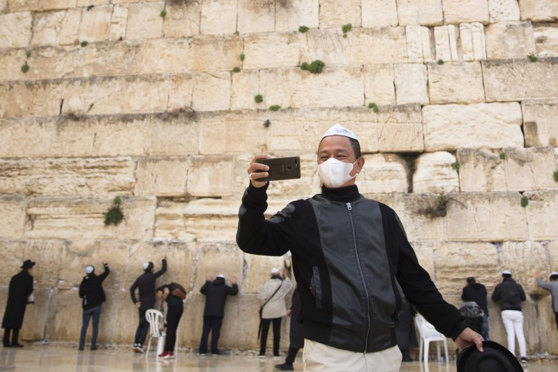 A mass prayer at the Western Wall for coronavirus patients