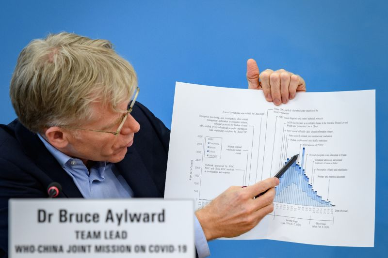 Team leader of the joint mission between the World Health Organization and China on COVID-19 Bruce Aylward