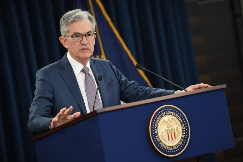 US Federal reserve Chairman Jerome Powell gives a press briefing on March 3, 2020 in Washington, D.C.