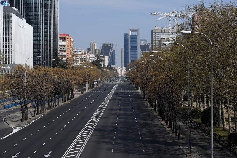 Madrid empty during the coronavirus outbreak
