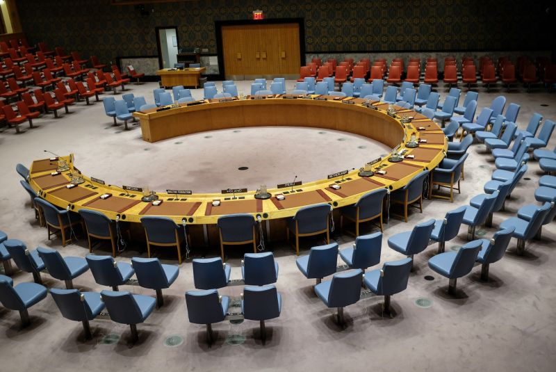 The U.N. Security Council chamber sits empty