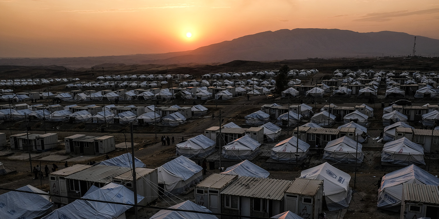 The Bardarash camp, pictured Oct. 24 in Dohuk, Iraq, swells with Syrian Kurdish refugees.