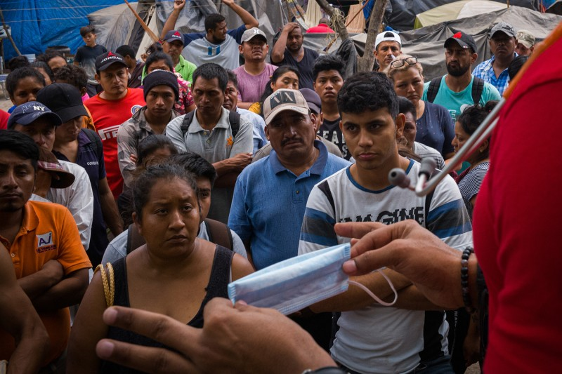 A doctor in a refugee camp in Matamoros, Mexico