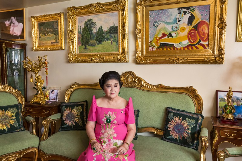 "Imelda Marcos in ""The Kingmaker."""