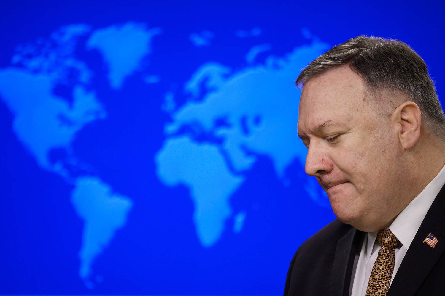 Secretary of State Mike Pompeo during a news conference in Washington, D.C., on March 25.