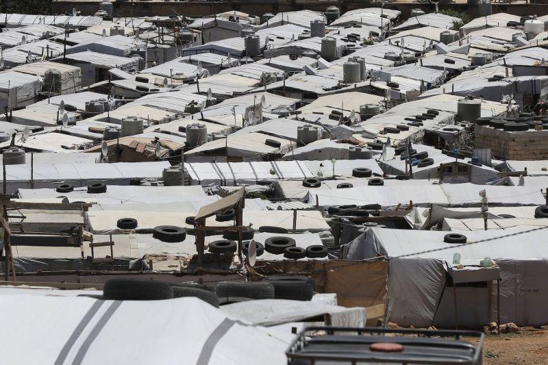 The al-Nour refugee camp in Arsal, Lebanon, on June 10, 2019.