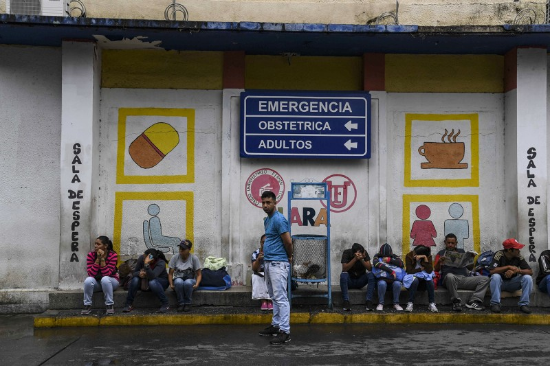 Relatives of patients in Venezuela