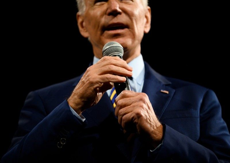 Democratic presidential candidate and former Vice President Joe Biden speaks in Des Moines, Iowa, on Aug. 10, 2019.