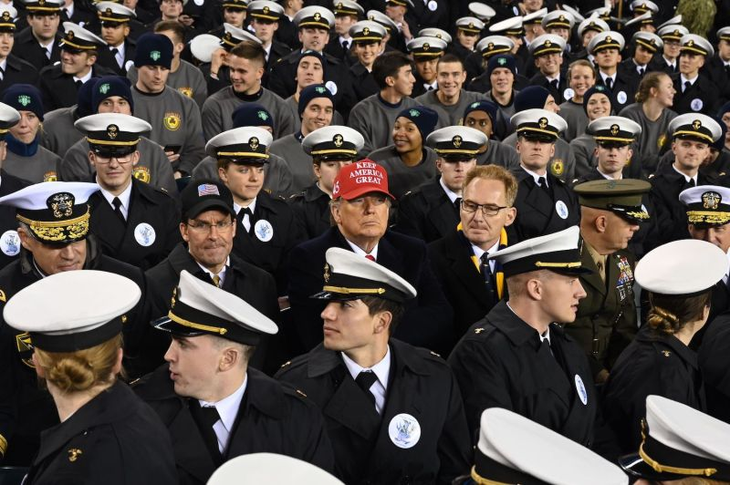 U.S. President Donald Trump, Defense Secretary Mark Esper, and acting Navy Secretary Thomas Modly