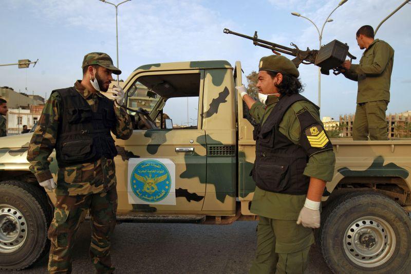 Fighters of a military battalion loyal to Libyan Gen. Khalifa Haftar