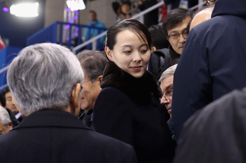 Kim Yo Jong, the sister of North Korean leader Kim Jong Un, attends an ice hockey match during the Pyeongchang Winter Olympics in Gangneung, South Korea, on Feb. 10, 2018.