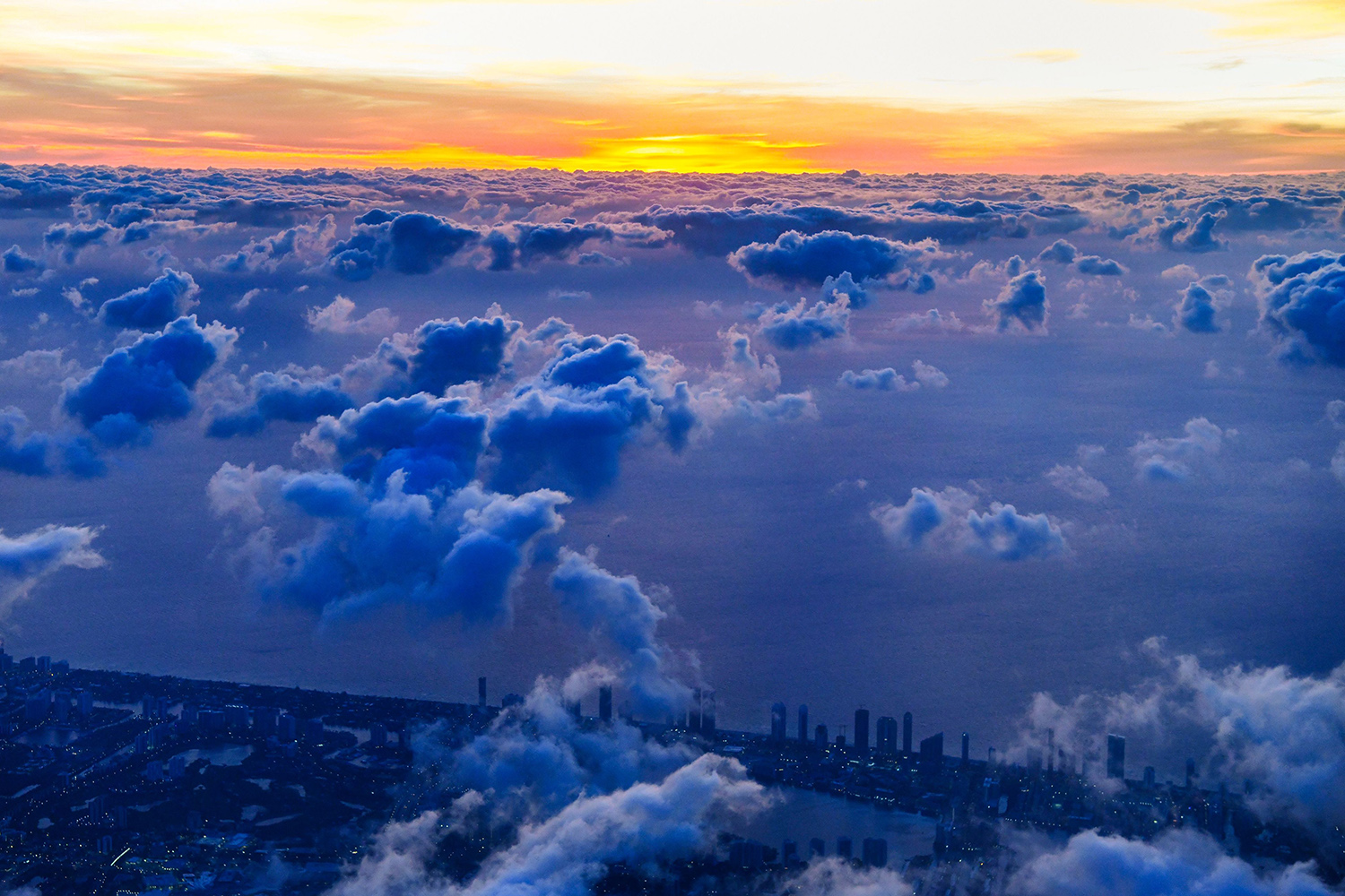 South Miami, Florida, is seen from an aircraft April 23. CHANDAN KHANNA/AFP via Getty Images