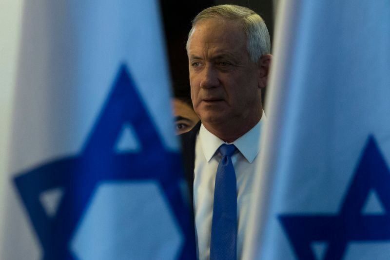 Benny Gantz attends a press conference in Tel Aviv on Nov. 20, 2019.
