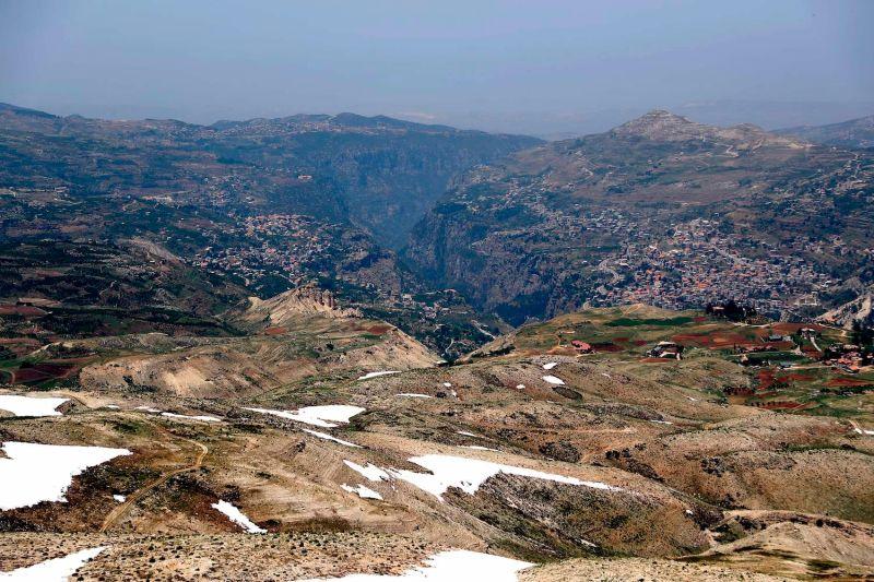 The town of Bsharri, Lebanon.