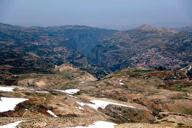 The town of Bsharri, Lebanon.