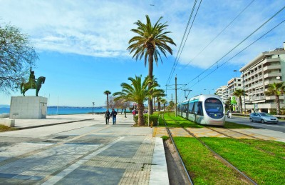 Athens' public transport system covers most of the city and its suburbs