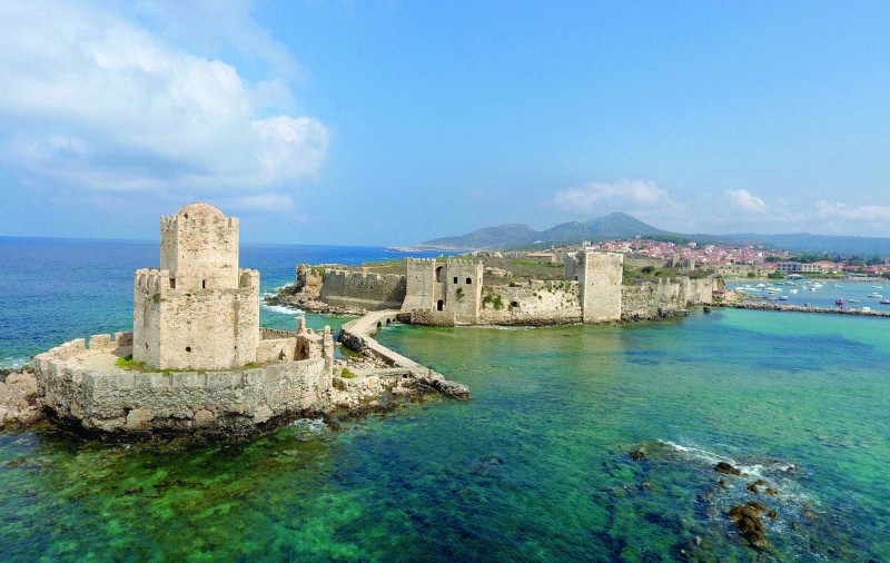 The medieval Venetian castle at the port town of Methoni