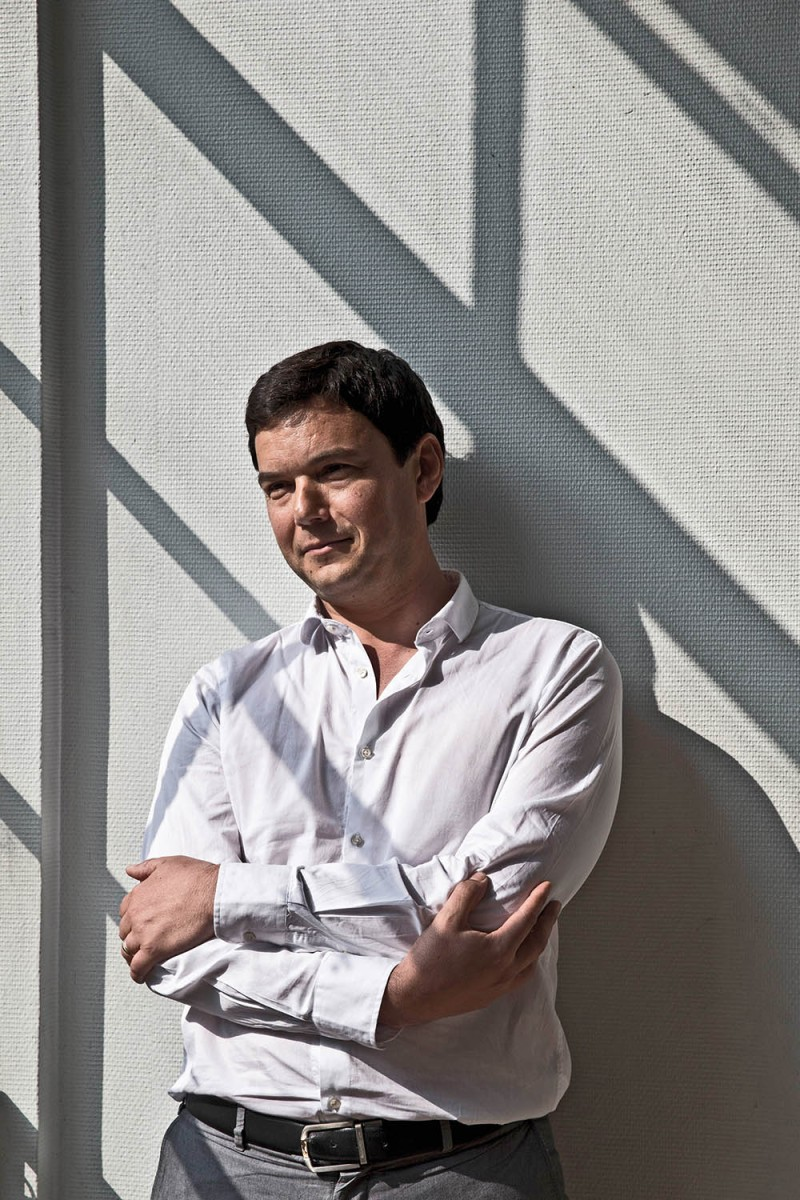 Thomas Piketty at the Paris School of Economics in May 2014. Christopher Morris/VII/Redux