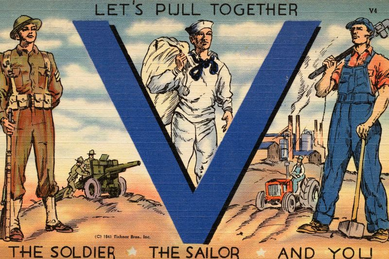 A World War II-era postcard.