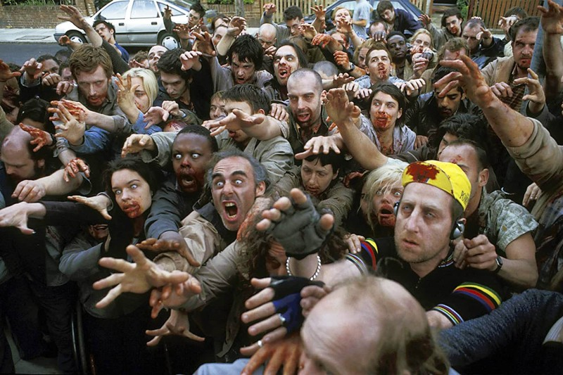 "A scene from Edgar Wright's 2004 zombie comedy ""Shaun of the Dead."""