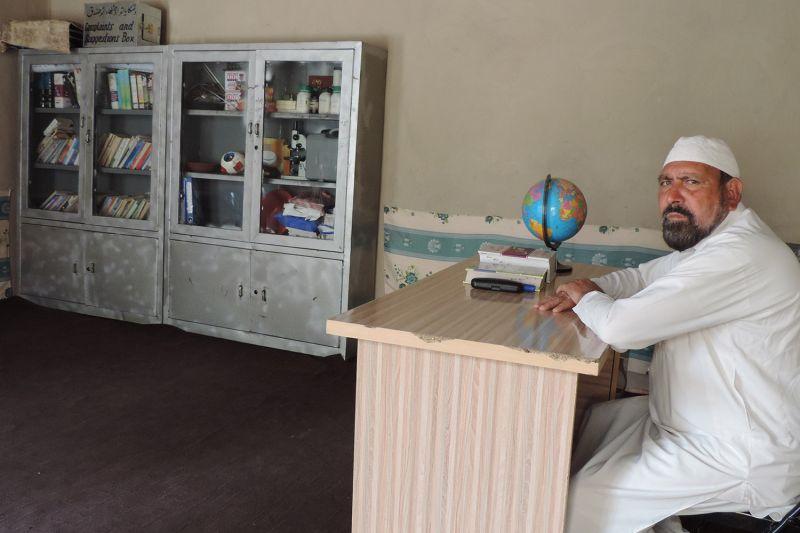Habib-ur-Rahman, seen on May 3, runs a girls school from his house in Badikhel village in southeastern Afghanistan.