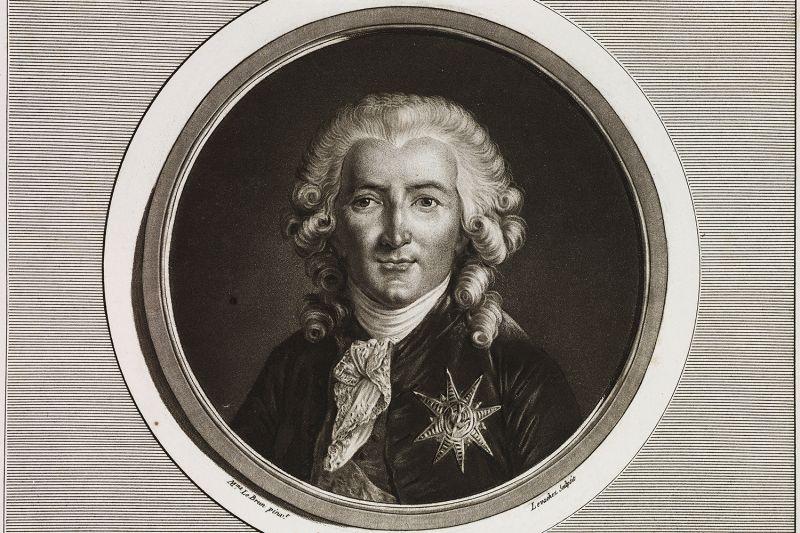 A portrait of Charles-Alexandre de Calonne (1734-1802), French politician and economist.