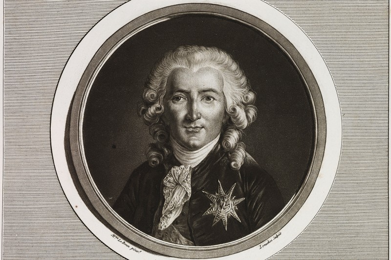 A portrait of Charles-Alexandre de Calonne (1734-1802), French politician and economist.
