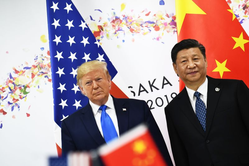 U.S. President Donald Trump and Chinese President Xi Jinping at the G-20 summit in Osaka on June 29, 2019.